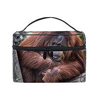 可愛いユニークポーチ 小物入れLazy And Gorilla 軽量 防水 旅行も便利 撥水する防水ポーチ