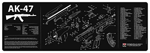 TekMat Gun Cleaning Mat for use with AK-47 , Black , Large
