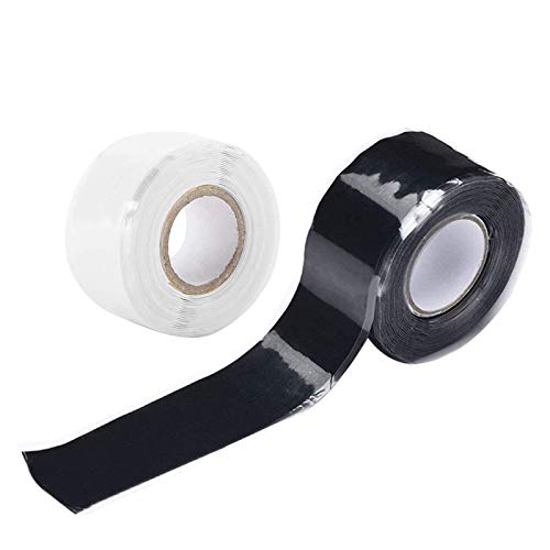 2 PCS Selbstverschweißendes Silikonband, Silikon Tape Reparaturband, Isolierband und Dichtungsband,Wasserdichtes, wetterfestes Reparaturband zum Befestigen und Abdichten