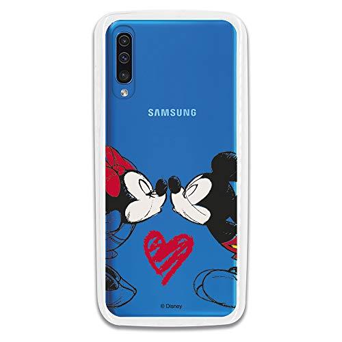 Carcasa Oficial Disney Mikey Y Minnie Beso Clear para Samsung Galaxy A70