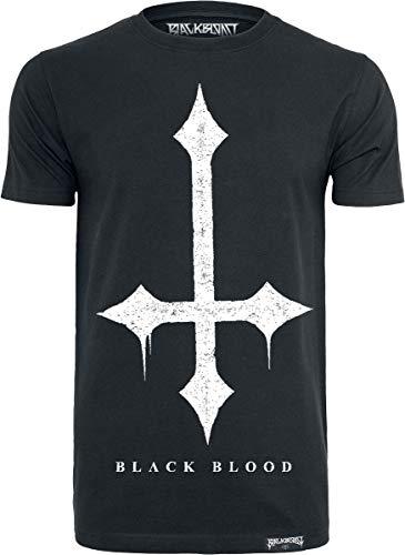 Black Blood by Gothicana Croix Homme T-Shirt Manches Courtes Noir L