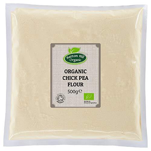 Harina de garbanzo orgánica 500 g (sin gluten) de Hatton Hill Organic