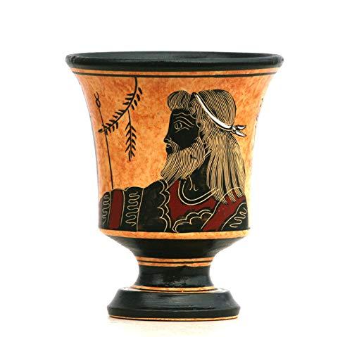 Pythagora-Tasse aus Keramik, griechischer Keramik, Gerechtigkeit, griechischer römischer Gott Zeus, 11 cm