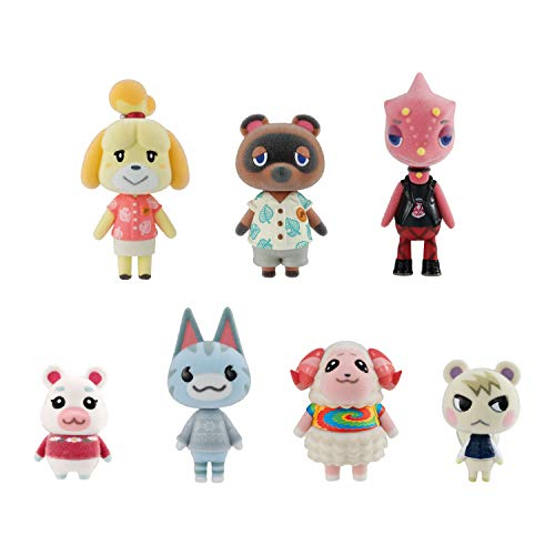 Bandai Shokugan - Animal Crossing: New Horizons Villager Flocked Doll Collection, (Complete Figure Set) (BAN62706)
