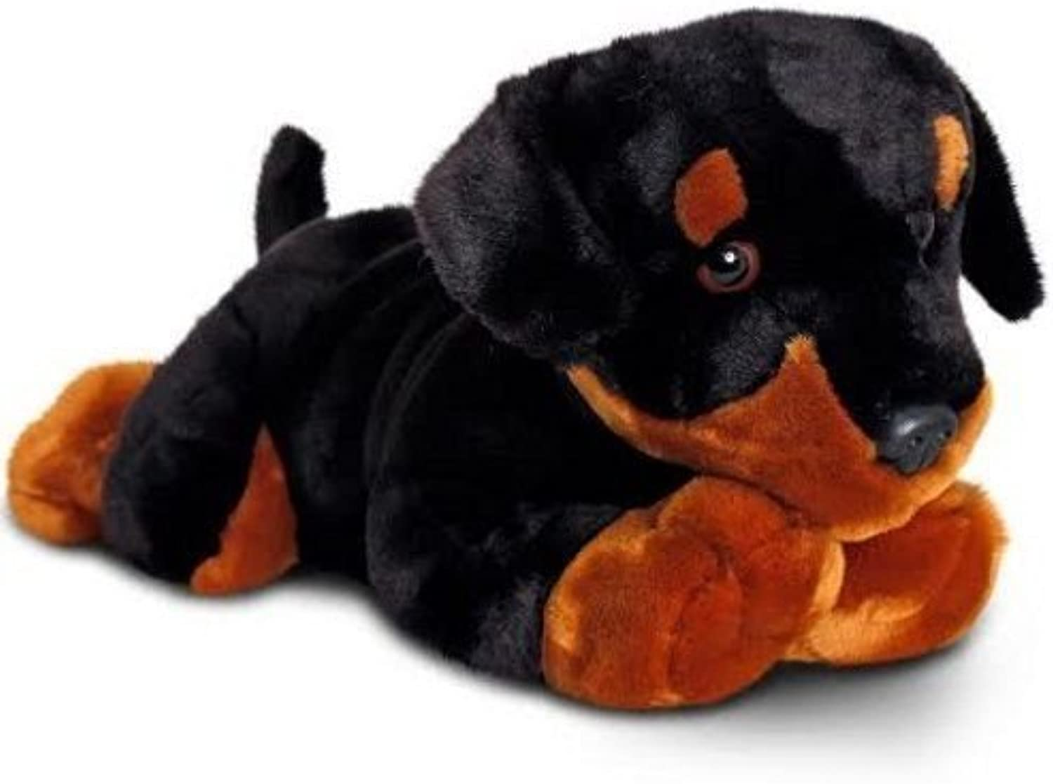 LARGE LAYING BLACK PUPPY by Keel Toys Plush  75cm Limited Run