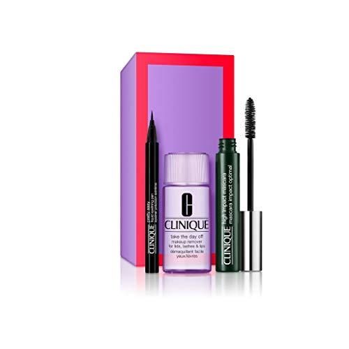 Clinique High Impact Mascara Set (Mascara 01 Black,7ml+Makeupentferner,30ml+Eyeliner,0.34g), 37.34 ml