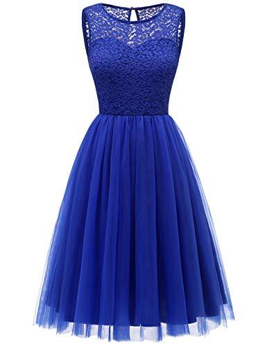 Bbonlinedress tüllrock faschingskostüme Damen tütü Cocktailkleid Tüll Kleid Brautjungfern Partykleid Abendkleid Royalblue M