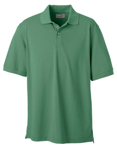 Ashworth Mens Combed Cotton Pique Polo Shirt - PINE - Large