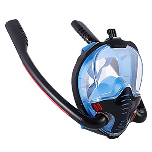 apofly La Cara Llena de Snorkel máscara de respiración fácil máscaras de Buceo para los Adultos o los niños antiniebla Anti-Fugas Negro Azul L XL Tamaño