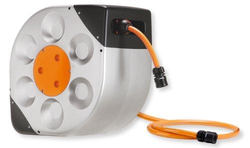 Claber 8990Rotoroll soporte de pared giratorio manguera de jardín carrete automático con 66-feet 1/2-inch manguera