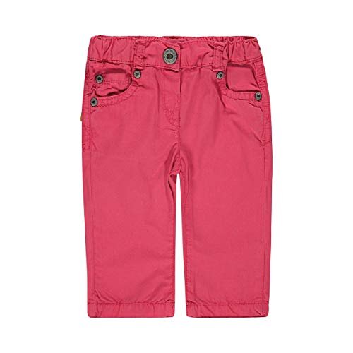 Steiff Pantalon en Toile 5 Poches Pantalon bébé, Rose Vif