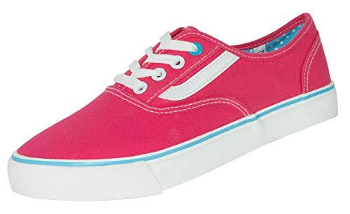 Beppi Damen Canvas Sneaker - Low-Top Frauenschuhe, Pink, Gr. 35