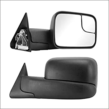 Perfit Zone TOWING MIRROR Replacement Fit For 1994-2002 RAM PAIR MANUAL Without HEATED Without SIGNAL Manual Black