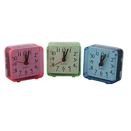 Mini Quarz Wecker Uhr Reisewecker Quarzwecker Tischuhr Batteriebetrieben