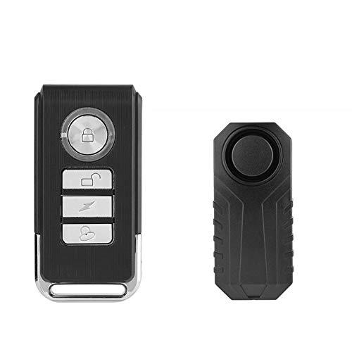 Delaman Fahrrad Alarmschloss Wireless Anti-Diebstahl Fernbedienung Alarmanlage Alarm, Fahrrad Alarm Sicherheitsschloss, Motorrad Fahrzeug Alarmanlage Sirene