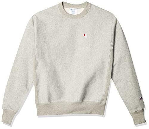 Champion Men's Reverse Weave Sweatshirt, Oxford Gray, X-Large