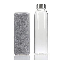 GMMH Trinkflasche Sportflasche Wasserflasche Fahrradflasche Getränkeflasche 550 ML (grau)
