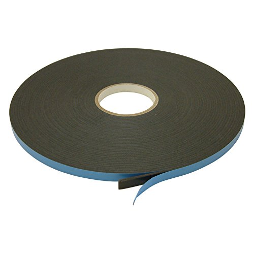 JVCC DC-WGT-01 Window Glazing Tape [Double-Sided, Closed Cell]: 1/8 in. Thick x 1/2 in. x 75 ft. (Black)