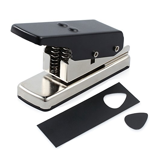 CAMWAY Guitar Pick Maker Punch Tool Heavy Duty DIY Maker Hole Punch Plastic Card Cutter Machine Unique Guitar Picks, Works Great on All Sorts of Materials - ABS, PVC, Old Credit Cards, Gift Cards