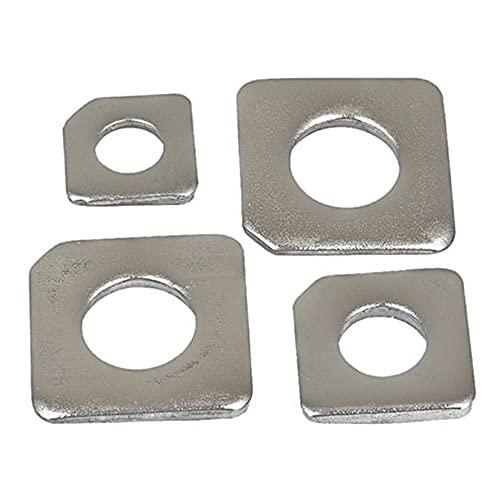 Malla de acero de acero inoxidable 304 Malla de acero, M6m8m10m12m14m16m20, Pad Square inclinada GB853, 10PCS-M16