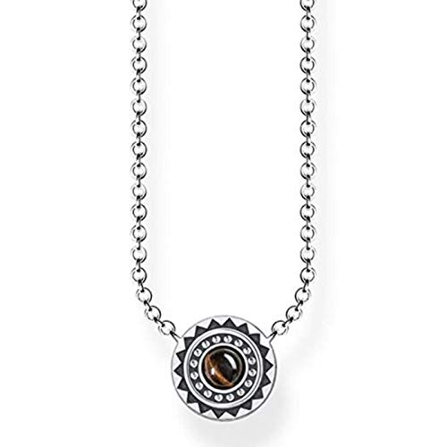 Thomas Sabo Damen-Kette Ethno Braun 925 Sterling Silber geschwärzt Braun KE1672-826-2-L45v