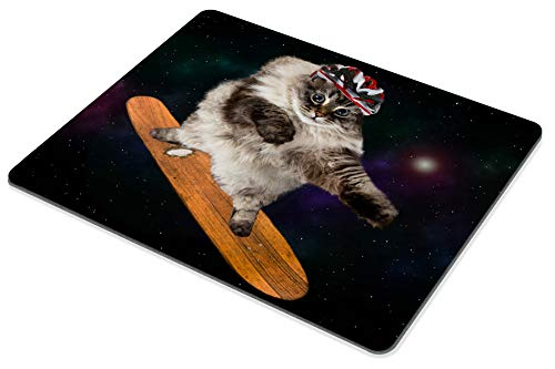Smooffly Gaming Mouse Pad Custom,Funny cat Skating in Cosmos Mousepad Non-Slip Rubber Rectangle Mouse Pads for Computers Laptop Photo #5