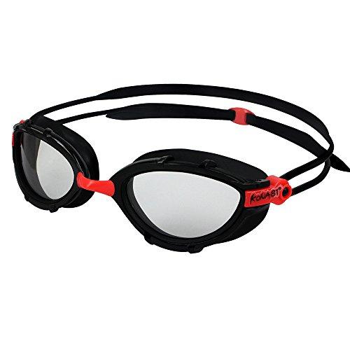 KONA81 Barracuda Swim Goggle K912 - Triathlon Photochromic Curved Lenses Wire Frame, Anti-fog UV Protection No Leaking Easy adjusting Comfortable for Adults Women ladies #91235(Black) -  BARRACUDA INTERNATIONAL, 2343698802