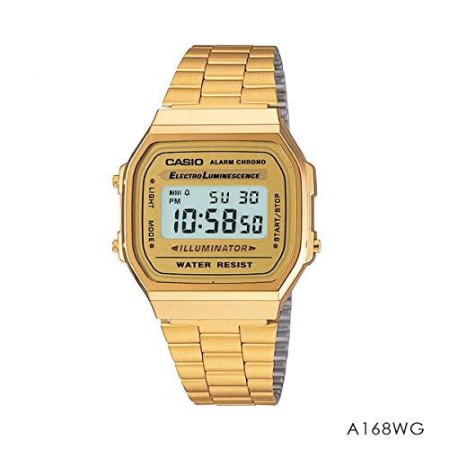 Casio A168WG-9WDF Digital Armbanduhr goldfarben