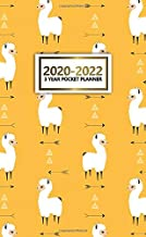 2020-2022 3 Year Pocket Planner: Pretty 3 Year Inspirational Monthly Pocket Organizer, Schedule Calendar & Agenda with Phone Book, Password Log & Notes - Adorable Yellow Tribal Arrows & Llama Pattern
