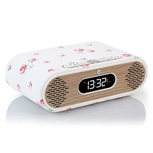 VQ Rosie-Lee DAB / DAB+ Digital & FM Radiowecker & Bluetooth-Lautsprecher – Cath Kidston Scattered Rose