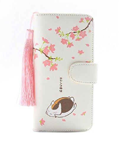 Siawasey Anime Natsume Yuujinchou Cosplay Cute PU Leather Purse Wallet For Female Girls (A)