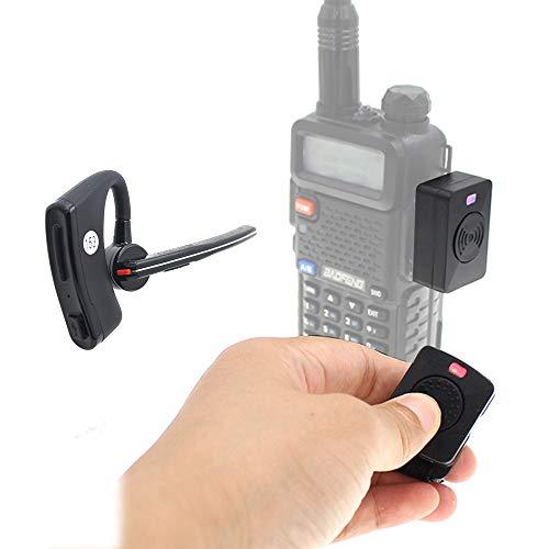 Wireless Handsfree Headsets for Walkie Talkie Bluetooth PTT Earpiece + K Adapter for BF UV-5R UV-82 TYT 2 Way Radio