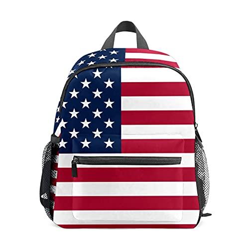 Mini mochila para niñas con bandera americana de Estados Unidos, mochila pequeña para mujer, bolsa de viaje de 12 pulgadas, bolsa escolar para niñas y niños
