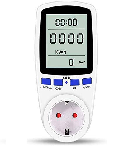 Energiekostenmessgerät, Strommessgerät Steckdose, Hospaop Energiemessgerät Digitaler Steckdose Energiekosten Messer Stromverbrauchszähler Steckdose mit Großer LCD Bildschirm und Überlastsicherung