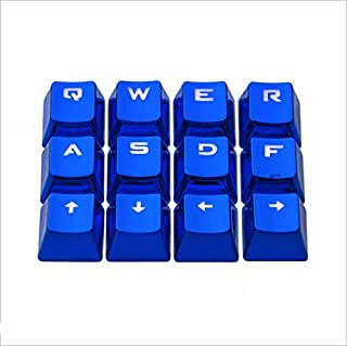Hidetaka FPS & MOBA Gaming Keycaps Electroplated Metal Color Keycap with Key Puller for Mechanical Keyboard Cherry Mx Swit...