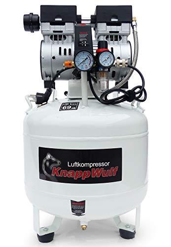 KnappWulf Flüsterkompressor Kompressor Druckluftkompressor KW1040 mit 40L Kessel 69dB