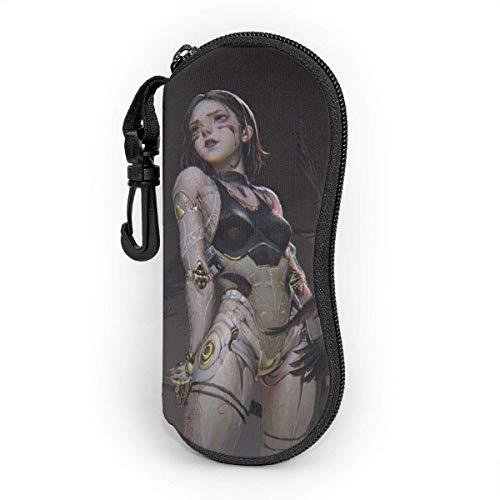 Alita Battle Angel - Funda para gafas de sol, portátil, con cremallera de viaje, bolsa de gafas de sol