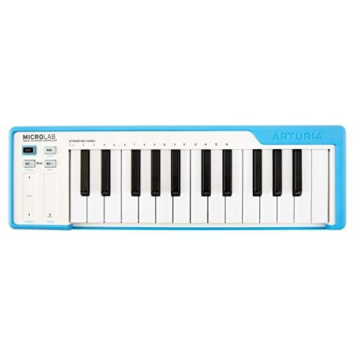 ARTURIA MICROLAB BLUE CONTROLLER Tastatur 25 Tasten Mini MIDI - USB Farbe Blau