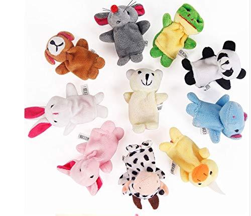 CJHA, Juguete de Felpa para bebé, Marionetas para Dedos, Accesorios para Contar Historias, 10 Piezas, Animales o 6 Piezas, muñeca Familiar, Juguetes para niños, Regalo para niños, 10 Piezas