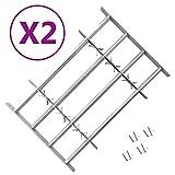 vidaXL 2x Rejas de Seguridad de Ventana Ajustables Rejilla Oficina Casa...