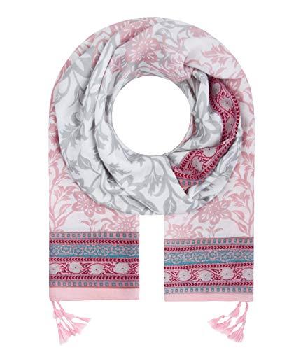 Majea Halstücher Damen Tuch Kopftuch Halstuch Schal Damen-Schal Tücher Damen Stola (rosa 43)