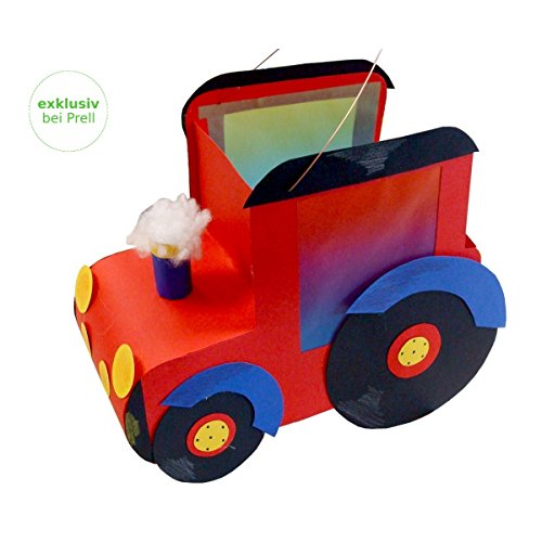 Laternen Bastelset Traktor 33 x 28 cm, 3 Stück