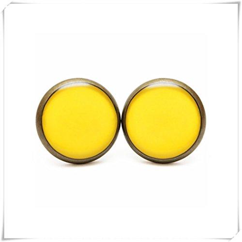 Freesie Ohrstecker, Gelb Freesie Schmuck, gelb Pantone Spring Ohrstecker
