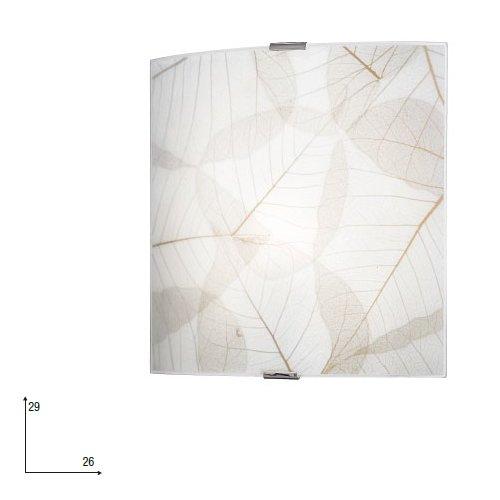 Fan Europe Applique E27, 60 W, Bianco, 26x26