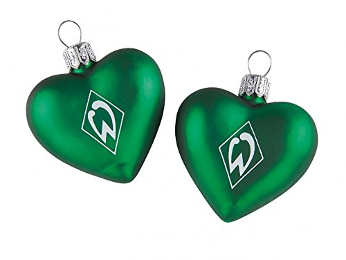 Unbekannt 2er Set Weihnachtsherzen SV Werder Bremen