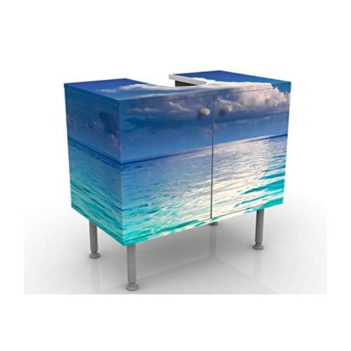 Apalis Waschbeckenunterschrank Türkise Lagune 60x55x35cm Design Waschtisch, Größe:55cm x 60cm