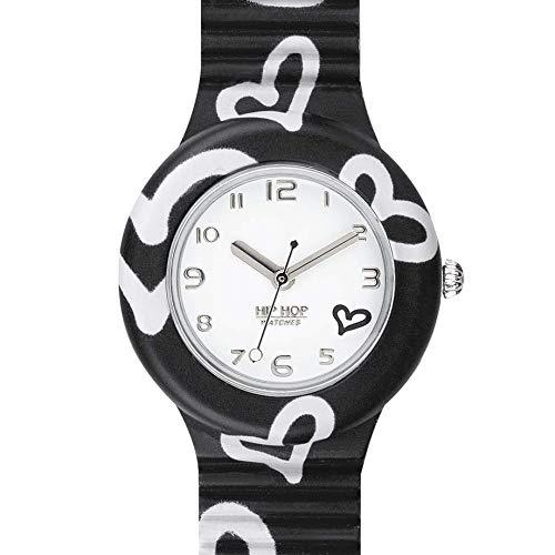 Hip Hop Watches - Orologio da Donna Hip Hop Black HWU0904 - Collezione Be Loved - Cinturino in Silicone - Cassa 32mm - Impermeabile - Nero
