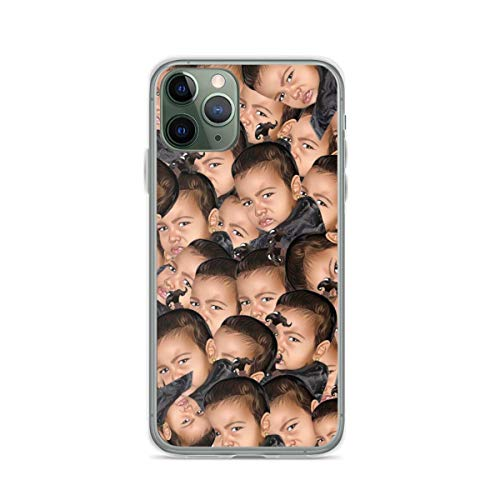 Kimoji North West Phone Case Compatible with iPhone 12 11 X Xs Xr 8 7 6 6s Plus Mini Pro Max Samsung Galaxy Note S9 S10 S20 Ultra Plus
