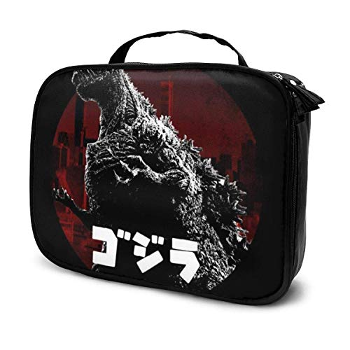Trousse de Maquillage Pochette cosmétique Godzilla King of The City Kit de Voyage pour Sac Multifonctionnel