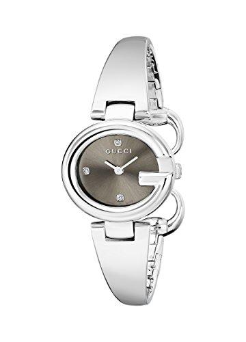 Gucci YA134506 - Reloj de Cuarzo para Mujer, con Correa de Acero Inoxidable, Color Platead